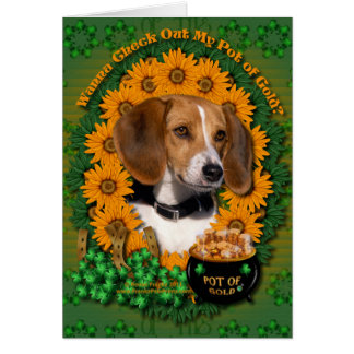 St Patricks - Pot of Gold - Beagle Card