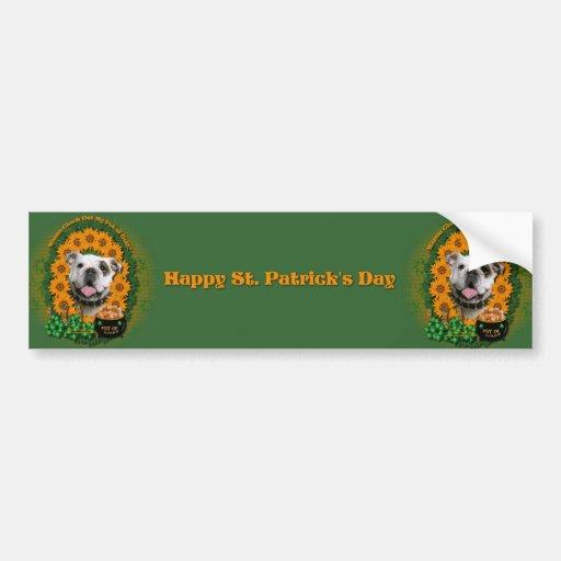 St Patricks - Pot of Gold - Bulldog Bumper Stickers