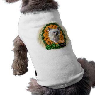 St Patricks - Pot of Gold - Chinese Crested -Kahlo Pet Tshirt
