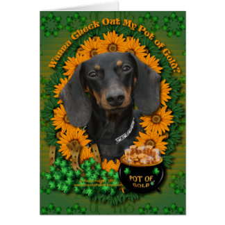St Patricks - Pot of Gold - Dachshund - Winston Card