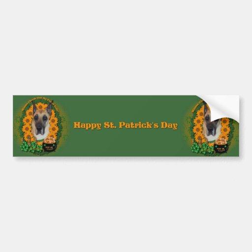 St Patricks - Pot of Gold - Great Dane Bumper Stickers