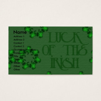 St Patricks - Pot of Gold - Jack Russell Business Card