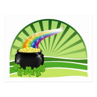 St.Patrick's Pot of Gold Postcard