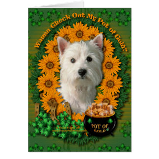 St Patricks - Pot of Gold - West Highland Terrier Card