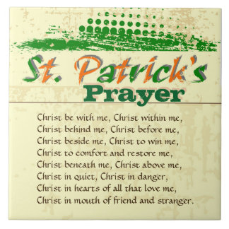 St. Patrick's Prayer, Christ Be With Me Tile