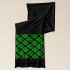 St Patricks scarf   Green shamrock clover pattern