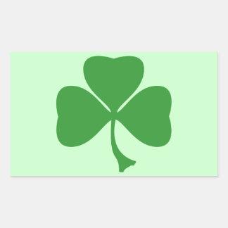 St Patrick's shamrock Rectangular Stickers