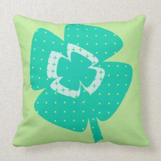 St. Patrick's Shamrock Throw Pillow