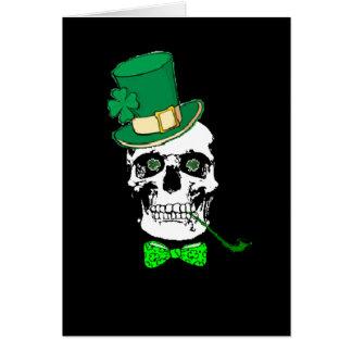 St. Patrick's Skull Card