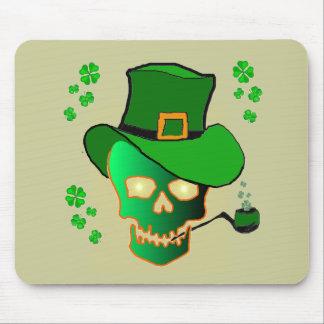 St Patricks Skull Mouse Pad