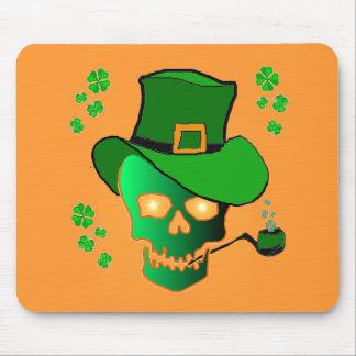 St. Patricks Skull Mousepads