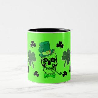 St. Patricks Skull Mug