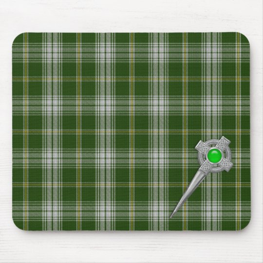 St Patricks Tartan Plaid Pattern Mousepad