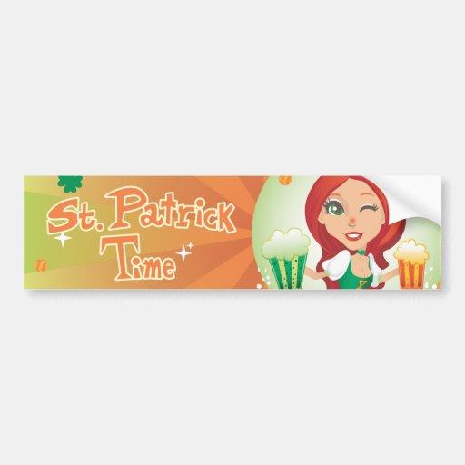 St. Patrick's Time Bumper Stickers