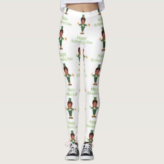 st patricks trump leprechaun leggings