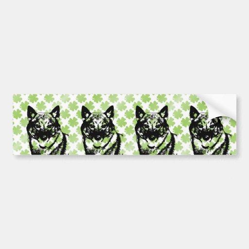 St Patricks - Vallhund Silhouette Bumper Sticker