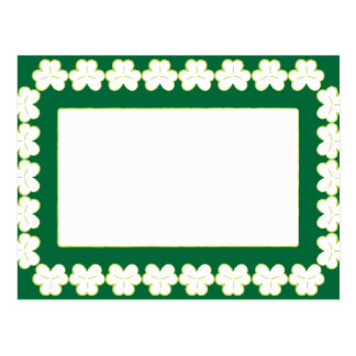 St. Patrick's wallpaper with green frame Postcard