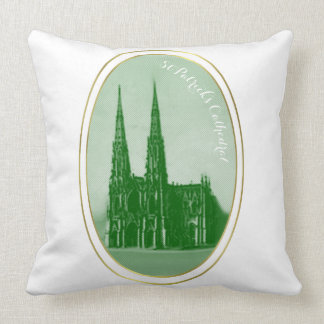 ST PATRICS CATHEDRAL  PILLOW and SHAMROCK PATTERN