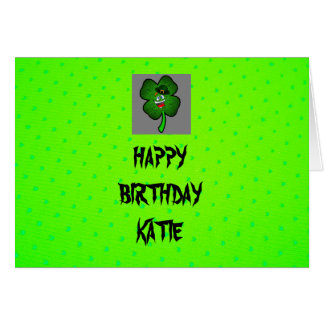 ST Patric's Day Birthday Card