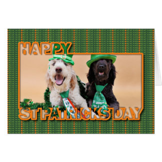 St Pats Day - GoldenDoodles - Sadie and Izzie Card