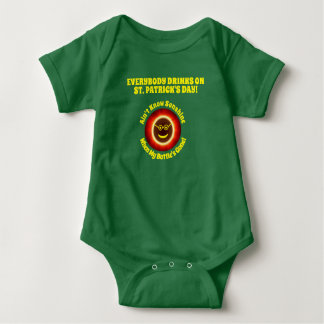 St. Pats Everybody Drinks Baby Outfit 2 Baby Bodysuit