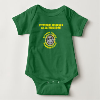 St. Pats Everybody Drinks Baby Outfit Baby Bodysuit