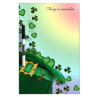 St Pat's hat Irish theme dry erase board artistic