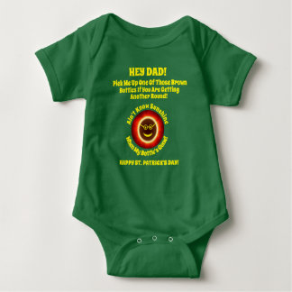 St. Pats Hey Dad Baby Outfit Baby Bodysuit