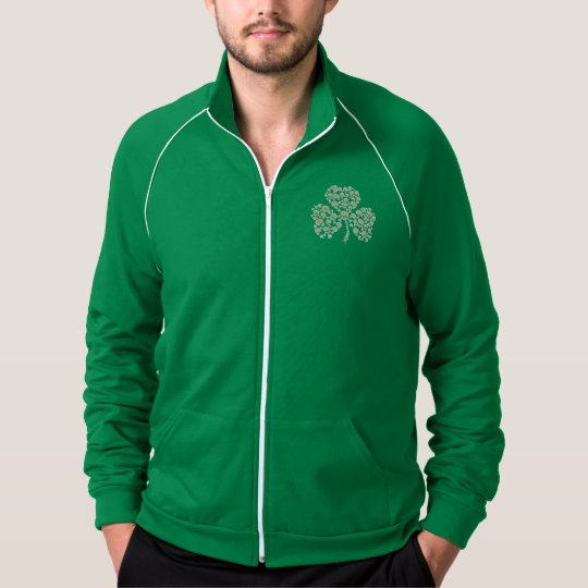 St Pats Irish Skulls Shamrock Jacket