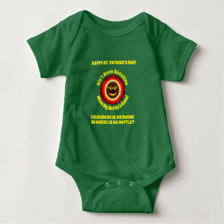 St. Pats Where's My Bottle Baby Outfit Baby Bodysuit