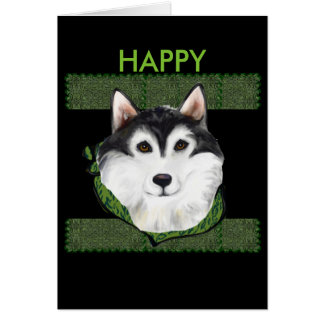 ST PATTY  Alaskan Malamute Card
