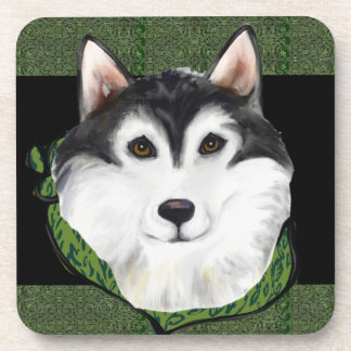 ST PATTY  Alaskan Malamute Coaster