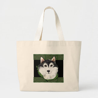 ST PATTY  Alaskan Malamute Large Tote Bag