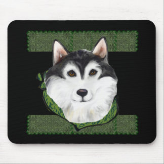 ST PATTY  Alaskan Malamute Mouse Pad