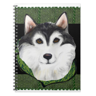 ST PATTY  Alaskan Malamute Spiral Note Book