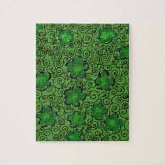 St. Patty Art Design Jigsaw Puzzle