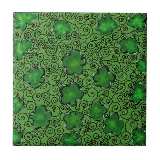 St. Patty Art Design Tile