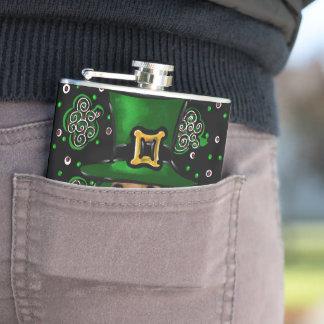 St. Patty Doxie Art Design Hip Flask