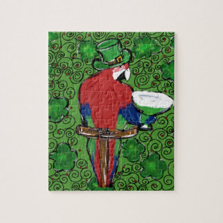 St Patty Parrot Jigsaw Puzzle