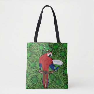 St. Patty Parrot Tote Bag