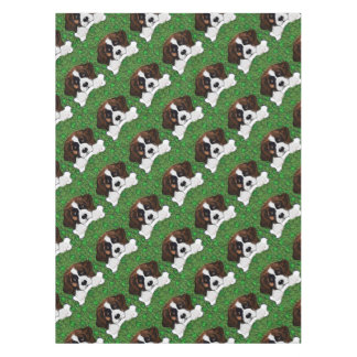 St Patty Saint Bernard Tablecloth