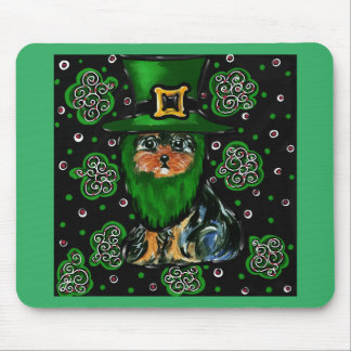 St. Patty Yorkie Poo Mouse Pad