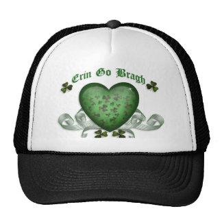 St Patty's Day Erin go bragh irish heart Trucker Hat