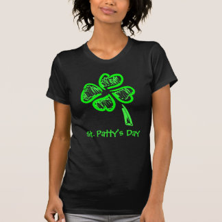 St. Patty's Day Four Leaf Clover T-Shirt