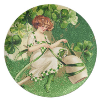 St. Patty's Day Girl Plate