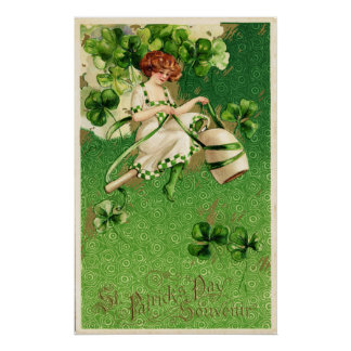 St. Patty's Day Girl Poster