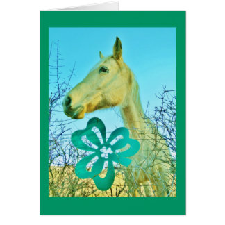 St. patty's Day Horse Note Card