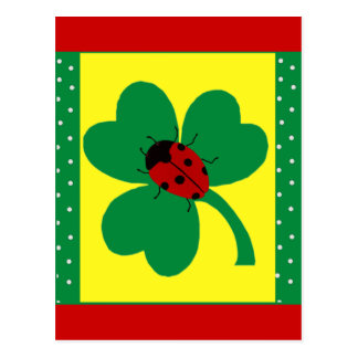 St. Patty's Ladybugs Postcard