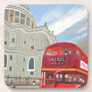 St.Paul Cathedral and London Bus Coaster
