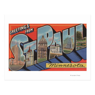 St. Paul, Minnesota - Large Letter Scenes Postcard